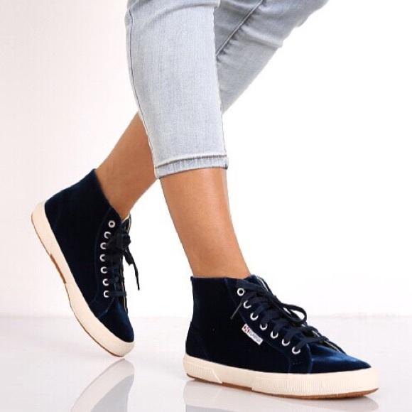 Superga Shoes | Superga 295 Blue Velvet